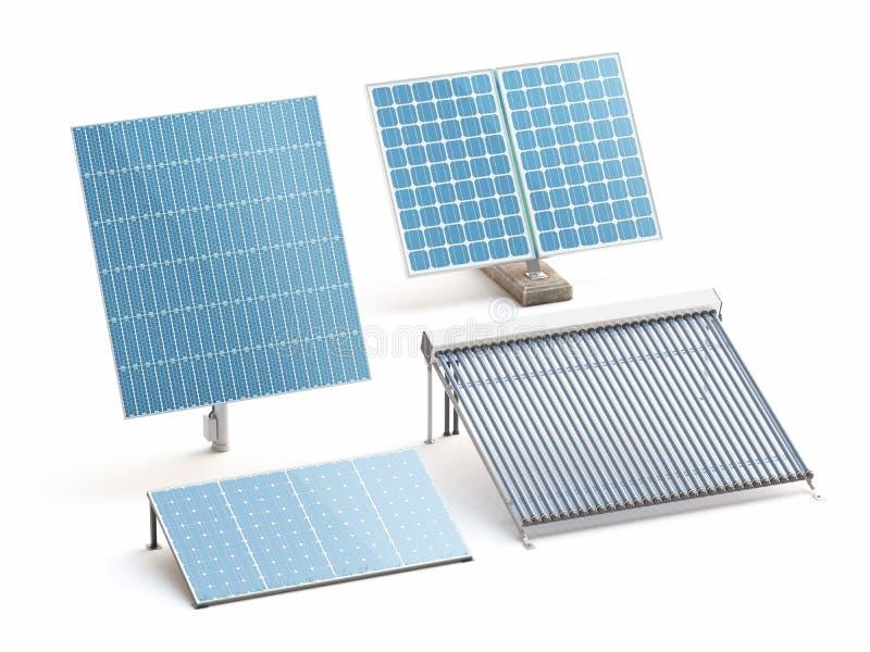 太阳电池板,环境,干净的世界 向量例证