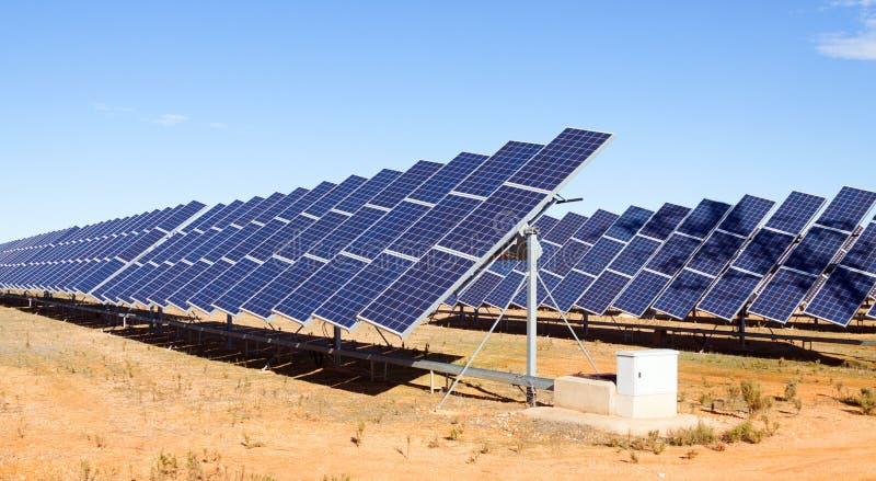 太阳电池板系统 库存照片