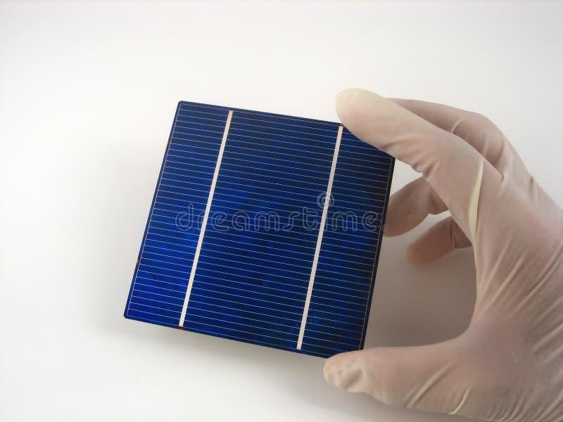 太阳电池的研究 图库摄影