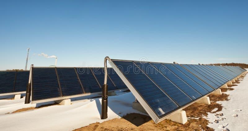 太阳的供暖设备 图库摄影