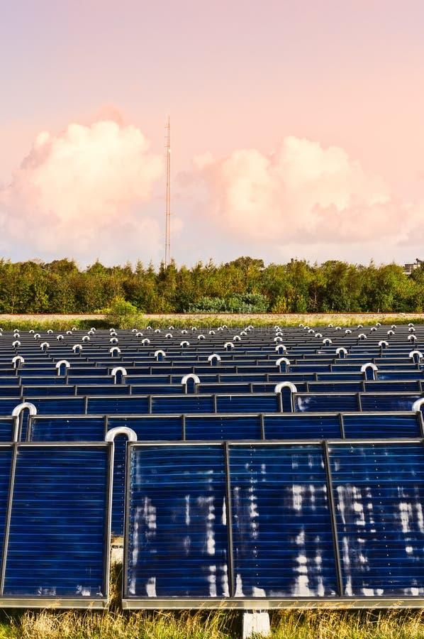 太阳的供暖设备 库存图片