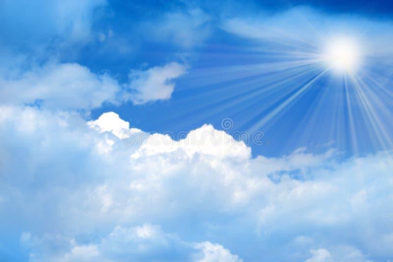 太阳的天空 图库摄影