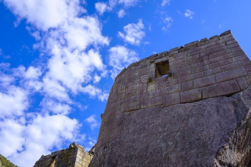 太阳的寺庙在Machu Picchu的 图库摄影