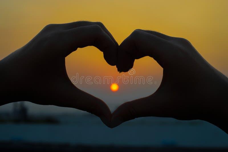 太阳的心脏 免版税库存图片