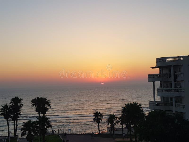 太阳的最后瞥见 免版税图库摄影