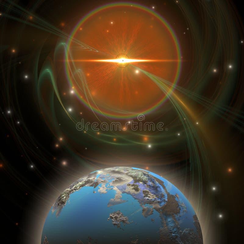 太阳的消息 皇族释放例证