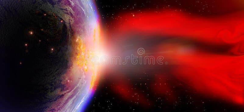 太阳的火光 皇族释放例证