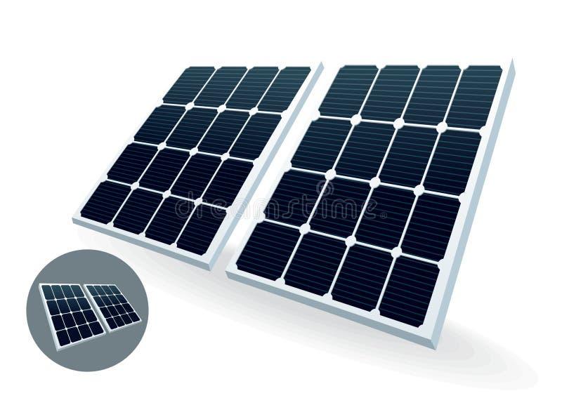 太阳的电池 库存例证