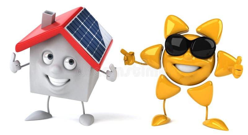 太阳的能源 向量例证