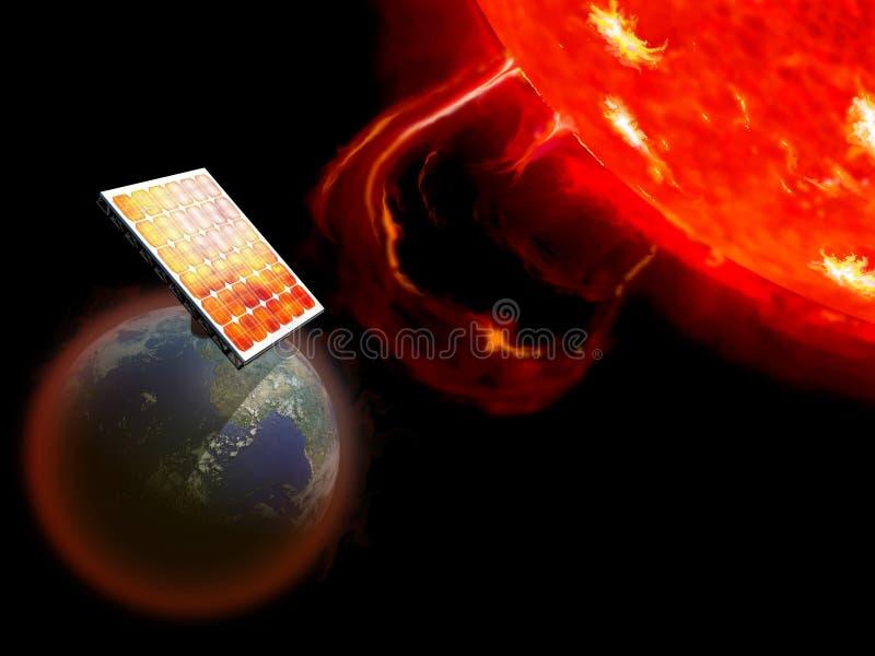 太阳的能源 库存例证