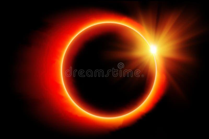 太阳的蚀 向量例证
