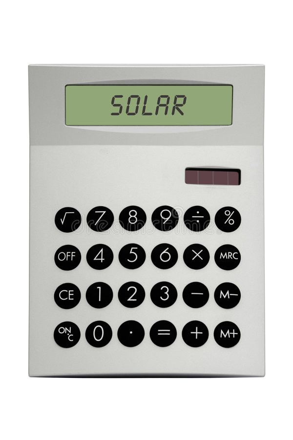 太阳的计算器 图库摄影