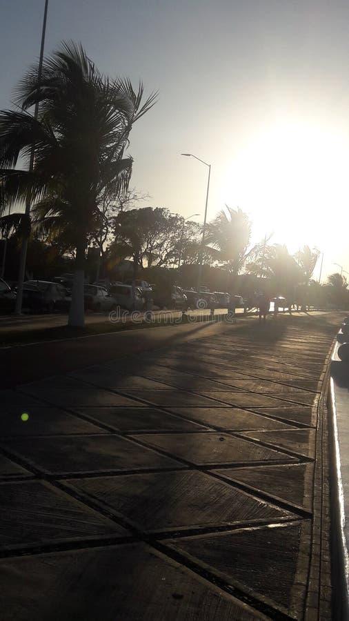 太阳的道路 库存图片