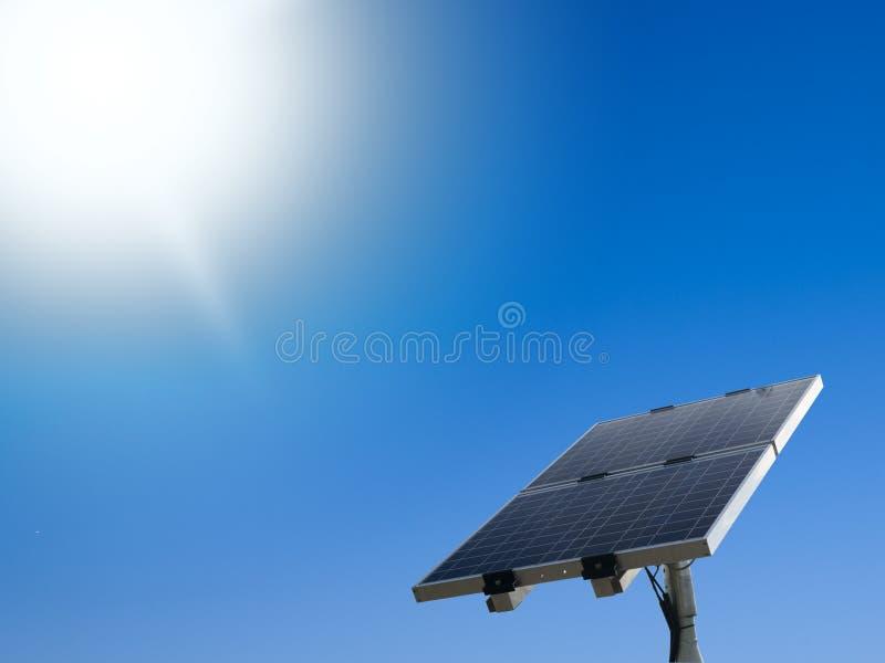 太阳的面板 免版税库存图片