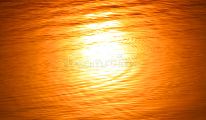 太阳的水被弄脏的反射 库存图片
