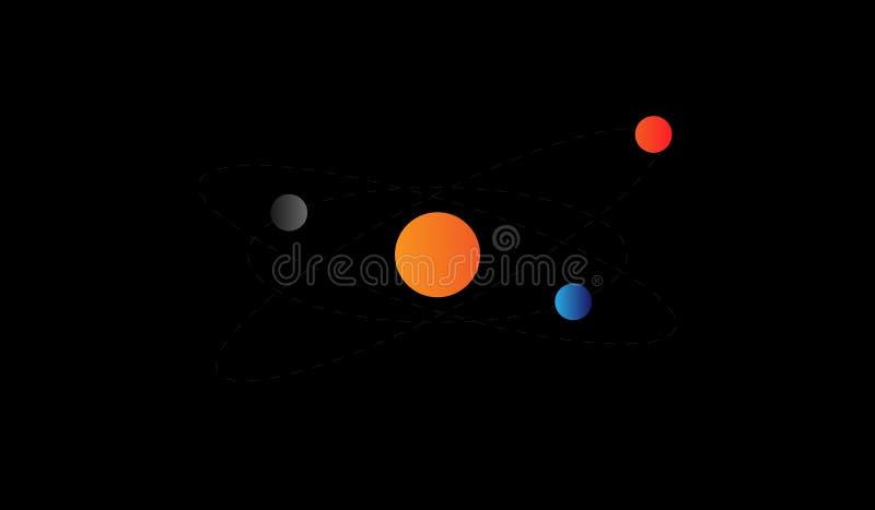 太阳系例证 免版税库存图片