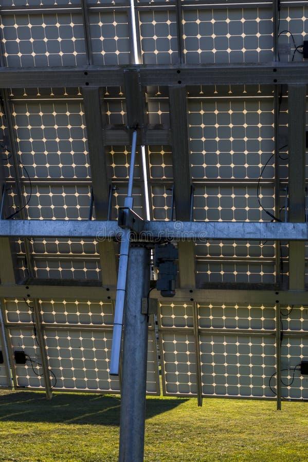 太阳系,有可追踪的元素细节的太阳能发电厂v 库存照片