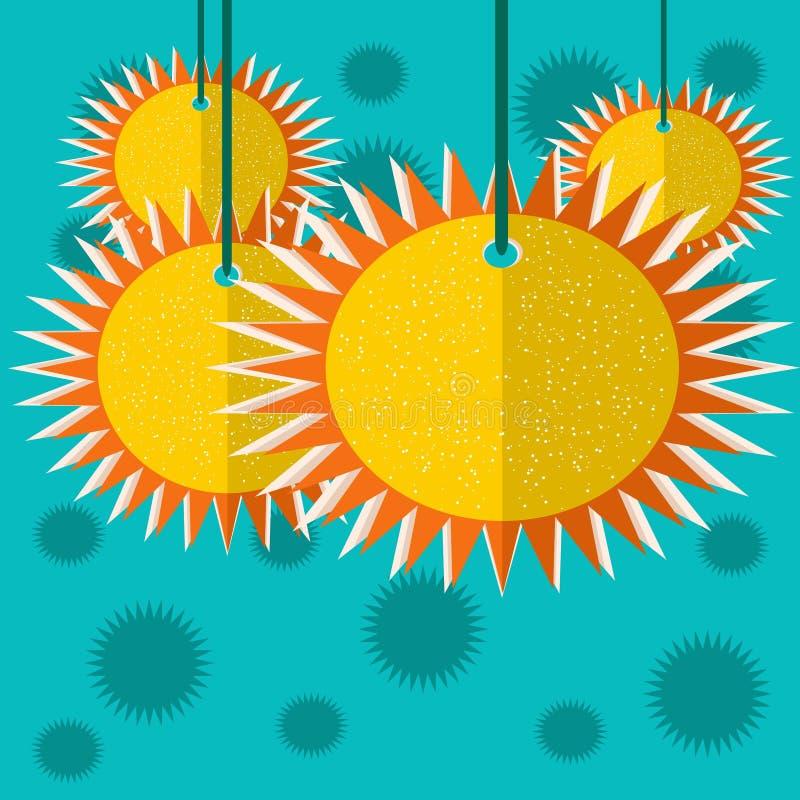 太阳纸 库存照片