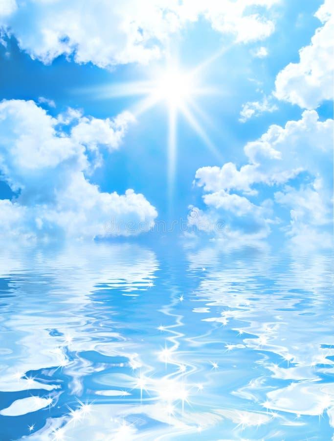 太阳背景的天空 免版税图库摄影