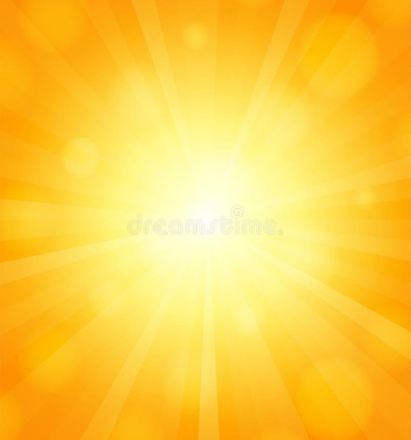 太阳背景 向量例证