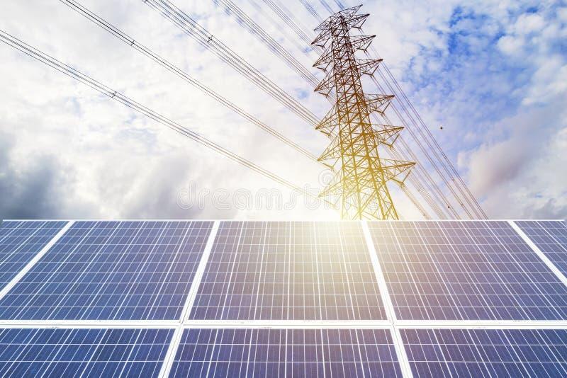 太阳能发电 库存图片