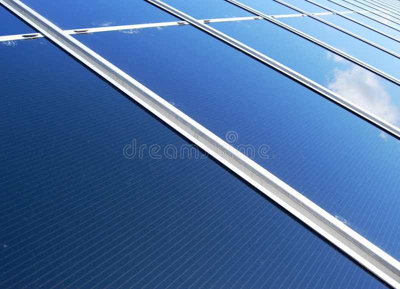 太阳能源的面板 库存图片