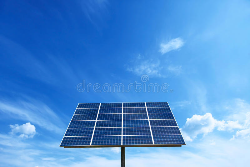 太阳能电池力量能量网格系统在想法概念背景中 库存图片