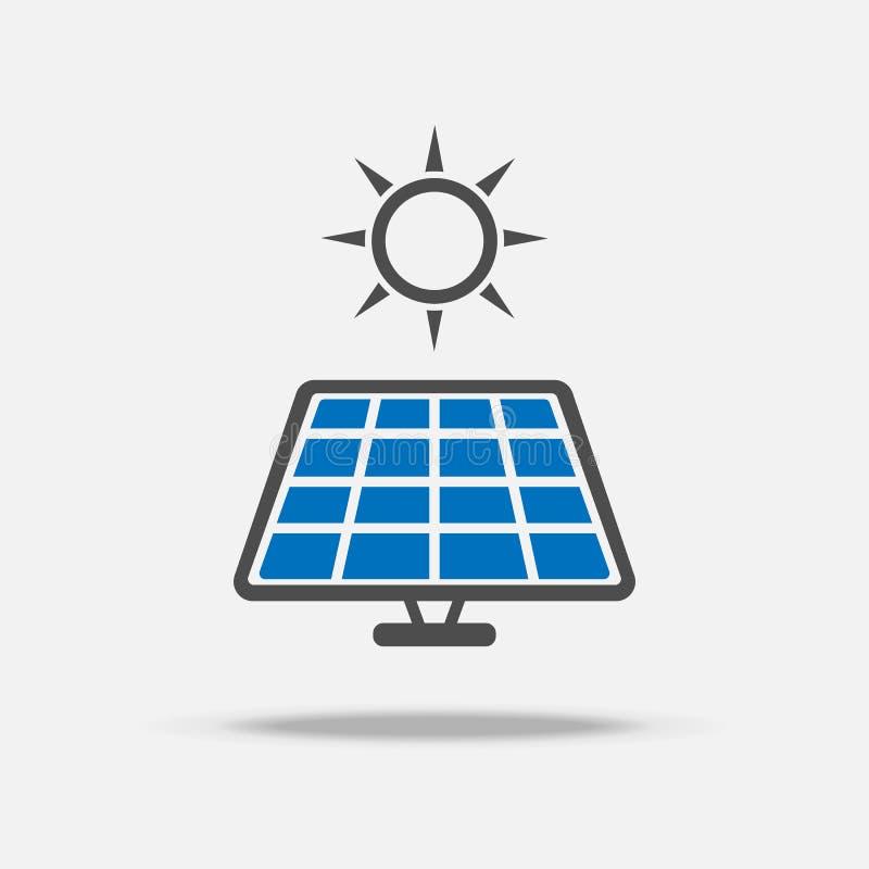 太阳能电池商标和象 力量和节能概念 例证传染媒介汇集集合 标志和标志题材 向量例证