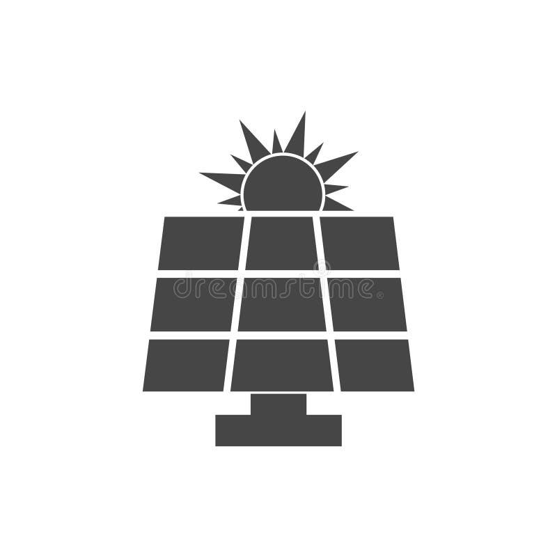 太阳能盘区 向量例证