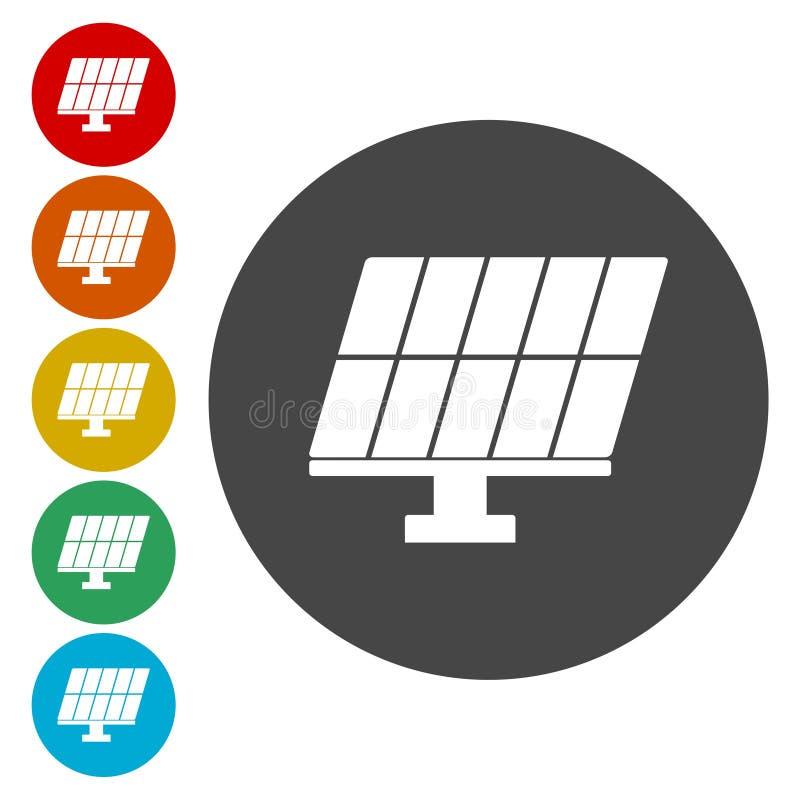 太阳能盘区 皇族释放例证