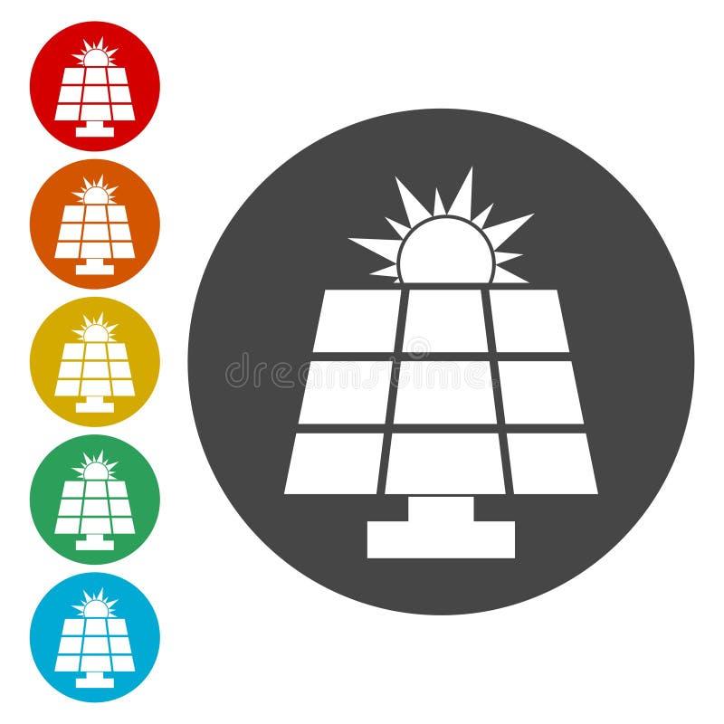 太阳能盘区 库存例证