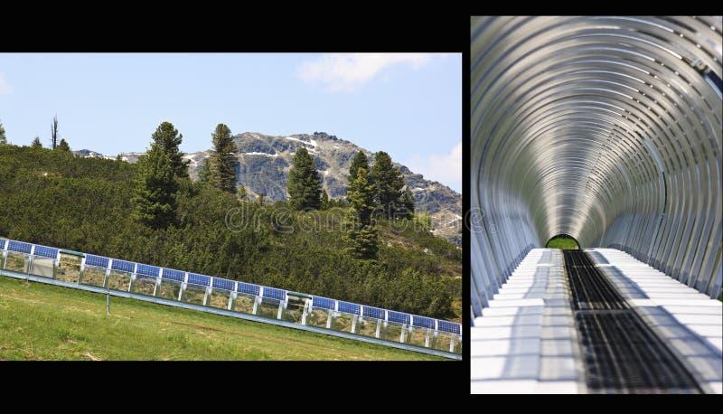 太阳能画廊封入物, Isskogel, Austr 库存照片