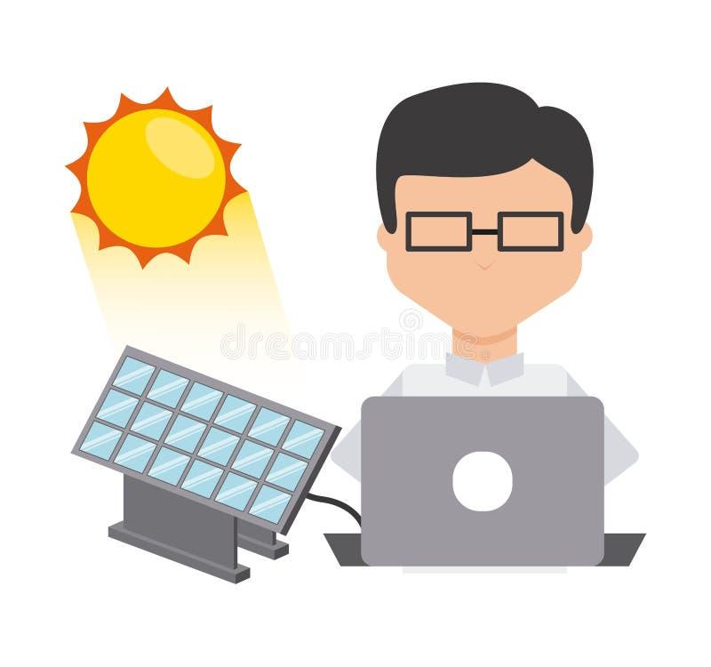Download 太阳能 向量例证. 插画 包括有 用户, 次幂, 回收, 本质, 环境, 太阳, 设计, 节省额, 生态学 - 59100478