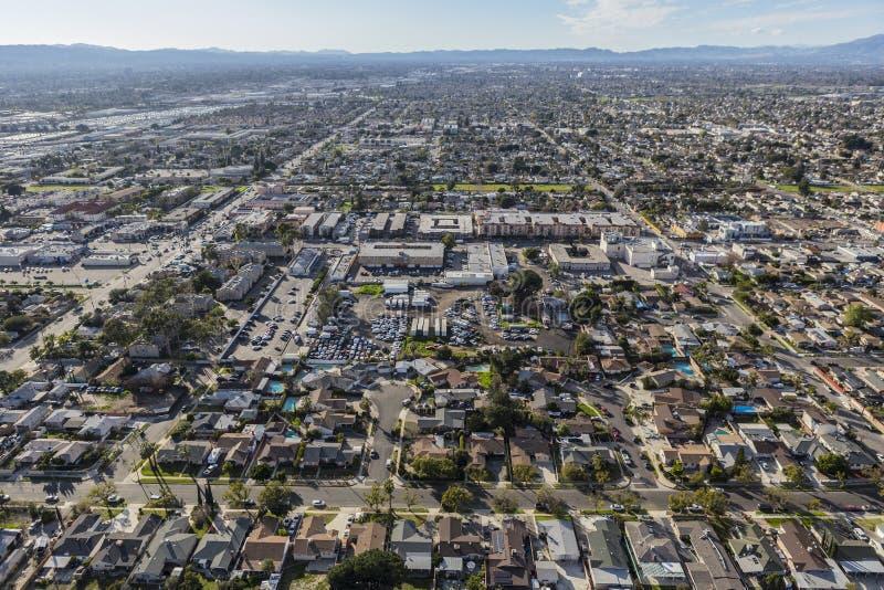 太阳谷鸟瞰图在洛杉矶加利福尼亚 库存照片