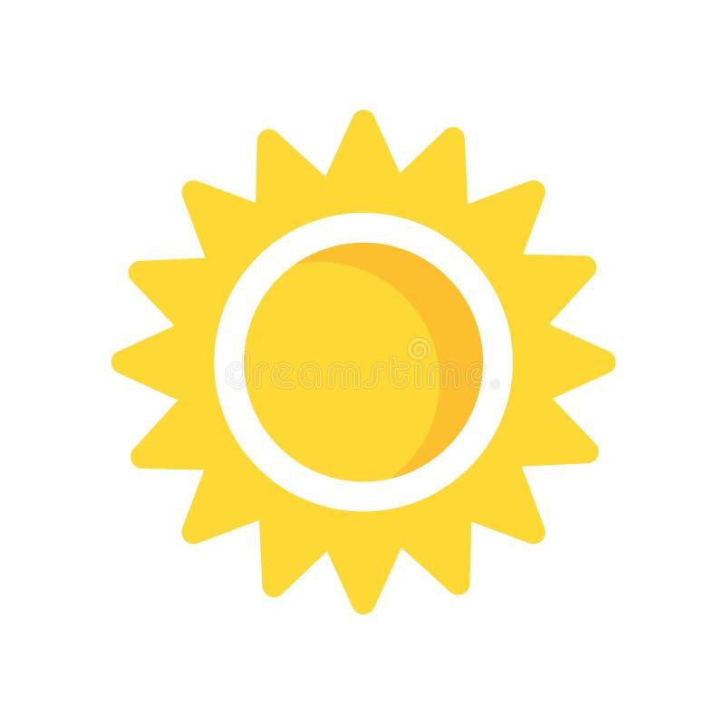 太阳象在白色背景和标志隔绝的传染媒介标志, Su 向量例证