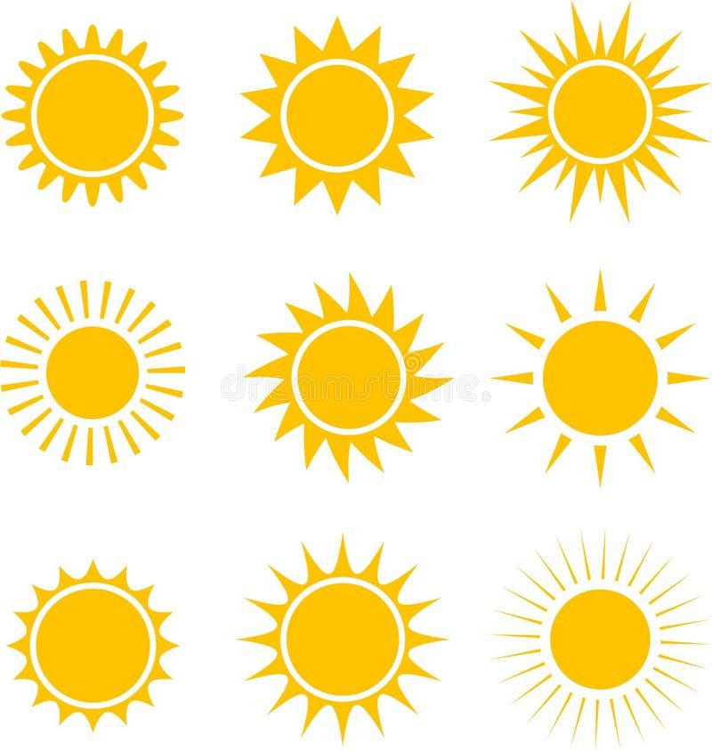 太阳象汇集 例证 库存例证