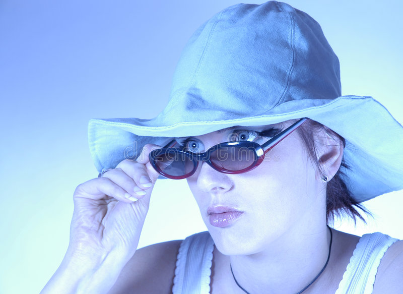 太阳镜妇女 免版税库存图片