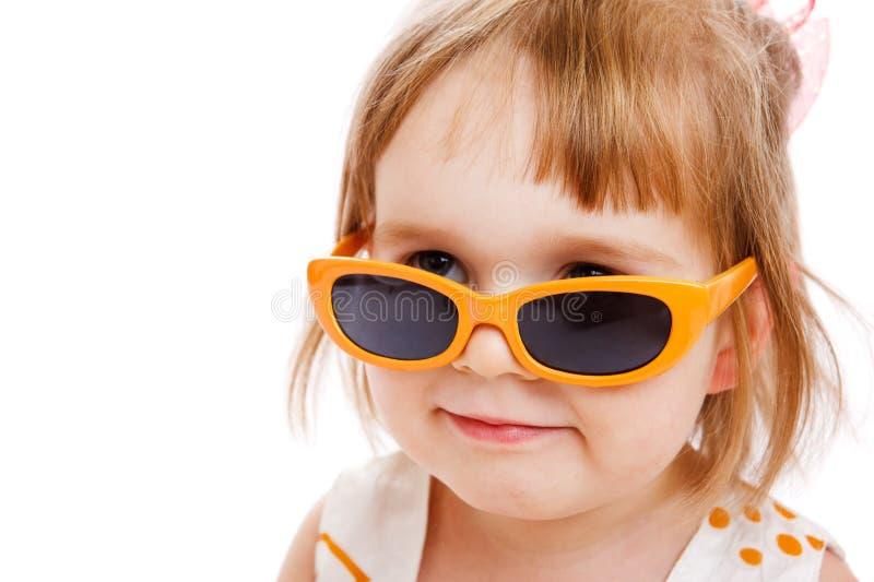 太阳镜小孩 免版税图库摄影