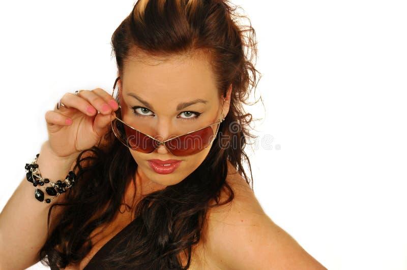 太阳镜的性感的妇女 库存照片
