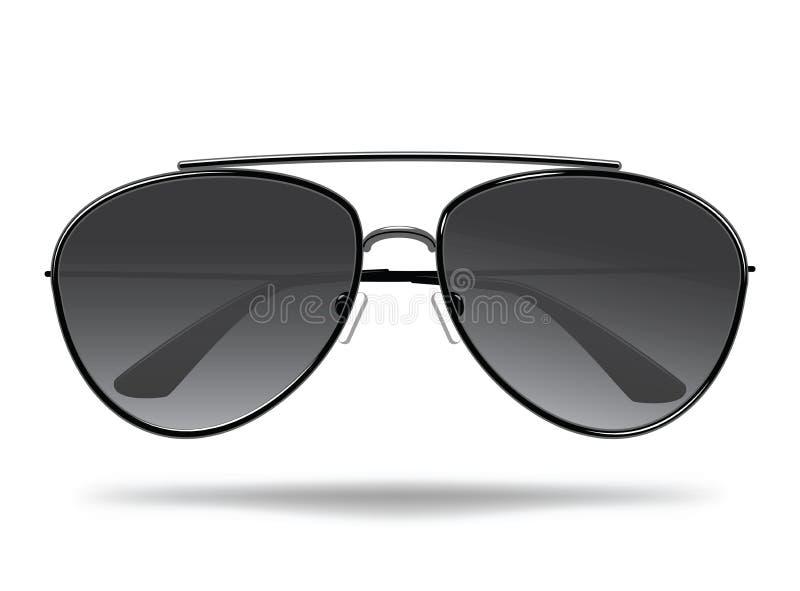 太阳镜 保护的动画片玻璃免受太阳 面孔的时髦的装饰 查出的向量例证 向量例证