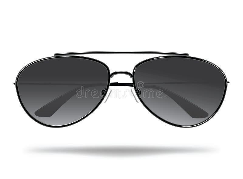 太阳镜 保护的动画片玻璃免受太阳 面孔的时髦的装饰 查出的向量例证 库存例证