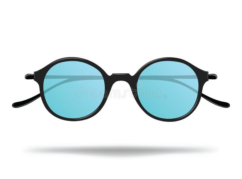 太阳镜 保护的动画片玻璃免受太阳 面孔的时髦的装饰 查出的向量例证 皇族释放例证
