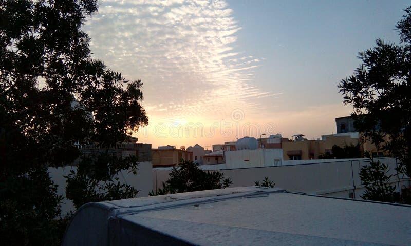 太阳集合云彩 库存图片