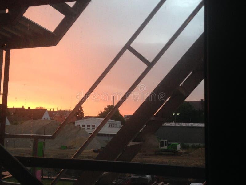 太阳集合桑尼早晨 库存图片