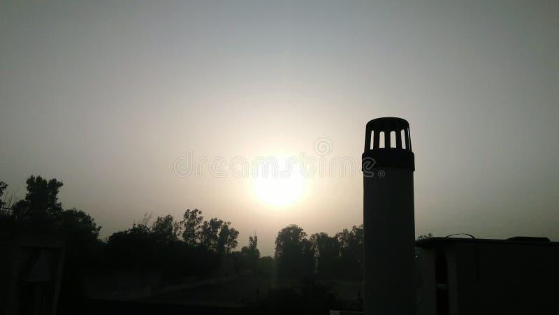 太阳集合视图 免版税库存照片