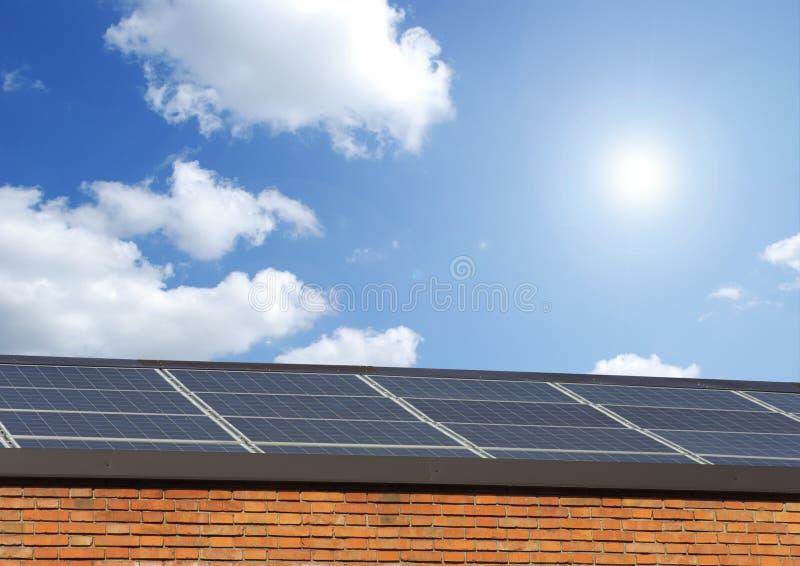 太阳面板的天空 免版税库存图片