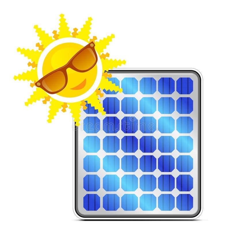 太阳面板的次幂 库存例证