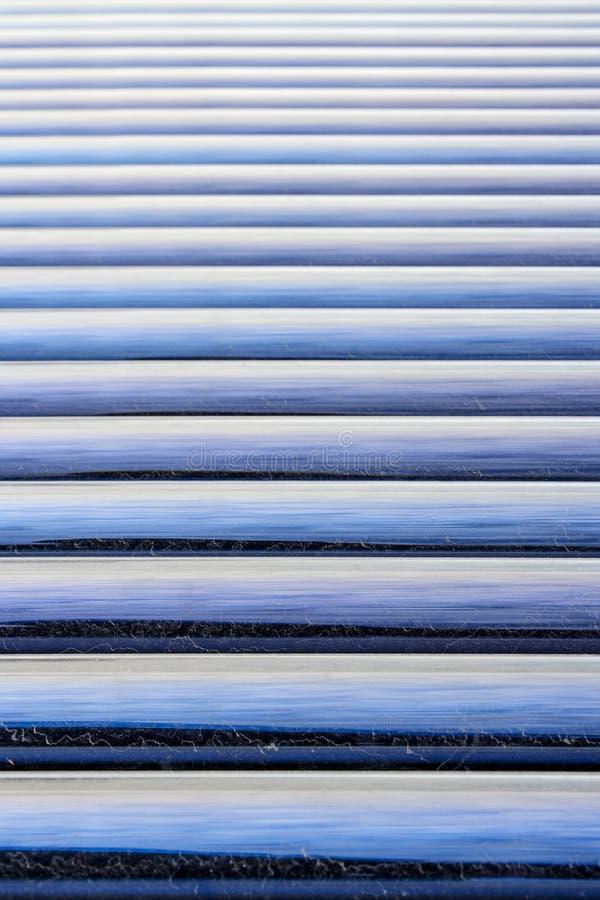 太阳水加热器玻璃管细节背景 免版税库存照片