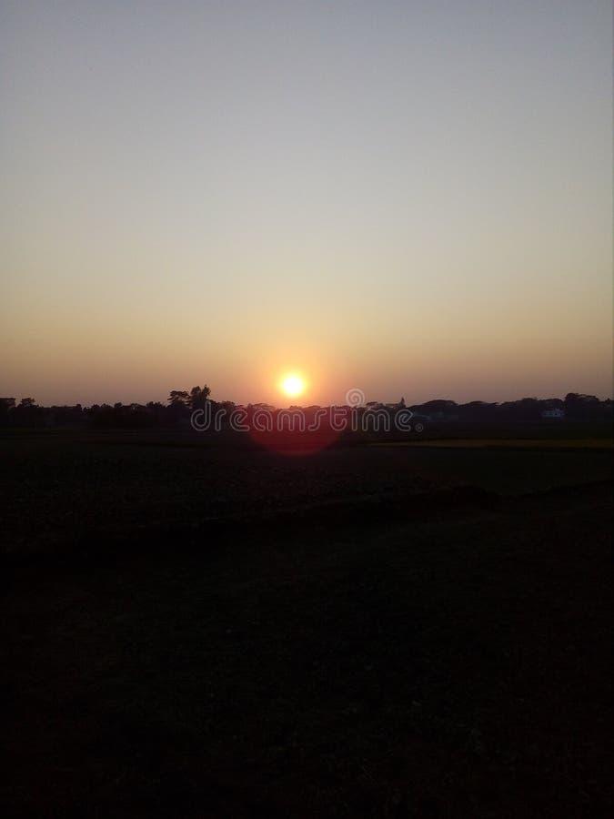 太阳去睡 免版税库存照片