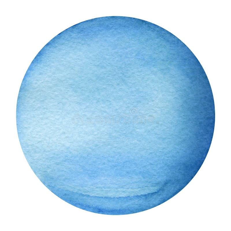 太阳系行星-天王星 额嘴装饰飞行例证图象其纸部分燕子水彩 库存例证